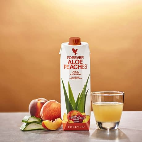 Buy Forever Aloe Peaches Juice Drink USA
